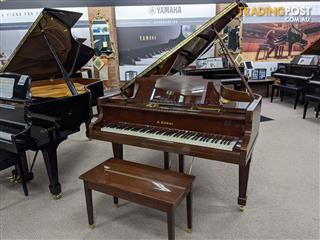Kawai 180cm Grand Piano No 600  Rich Walnut Polished Finish