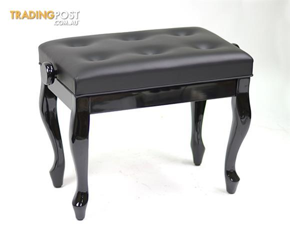 Piano Bench / ~ Piano Stool ~ CABRIOLET LEGS - BLACK