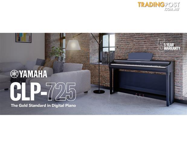Yamaha Clavinova Digital Piano - CLP725 New in Polished Ebony