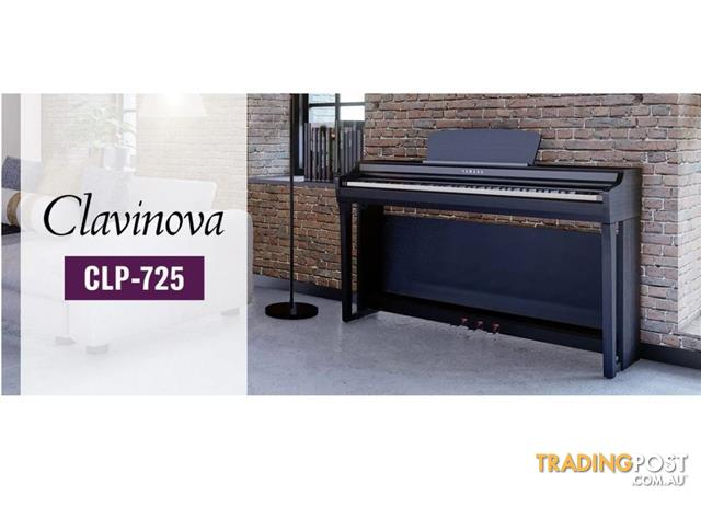 Yamaha Clavinova Digital Piano CLP725 - Black - Dark Rosewood - White