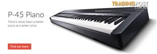 Yamaha P Series P 45 Portable Digital Piano ~ Compact and stylish piano