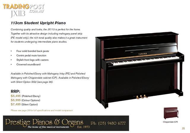 Yamaha Upright Piano JX113 NEW 113cm