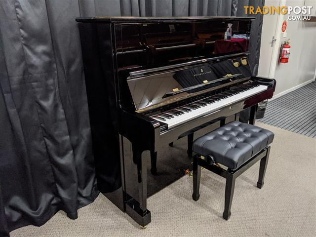 Steinway Upright Piano | Steinway & Sons  Model K vertegrand upright piano in a polished ebony