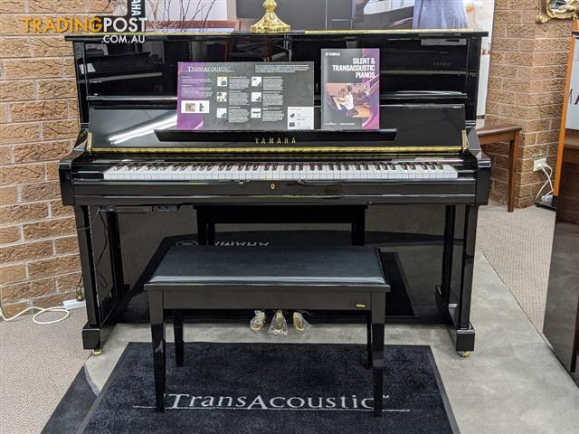 Yamaha U1 PEQ TransAcoustic Upright Piano Polished Ebony