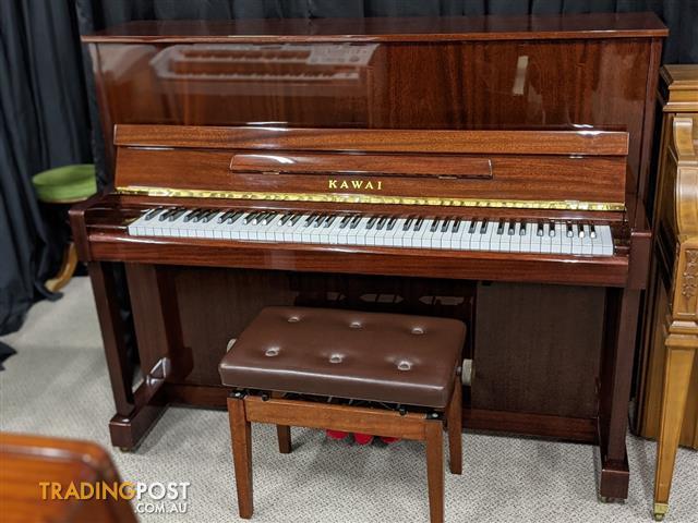 Kawai K121 Upright Piano in Polished Mahogany ~ Ser No 16152