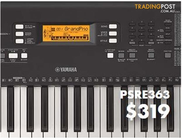 Yamaha E-Series PSR E363  Portable Keyboard * Plus Bonus pair of Yamaha HPH50 Headphones*