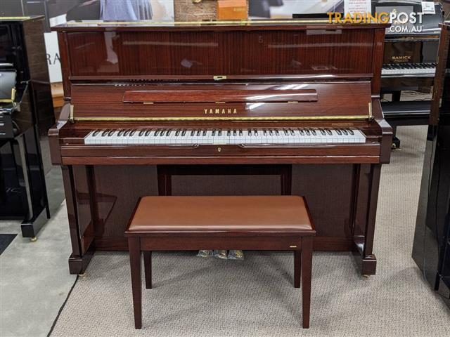 Yamaha U1 PMQ Acoustic Upright Piano Polished Mahogany