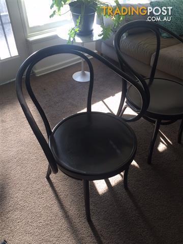 Thonet No.B9 Le Corbusier Black Chairs