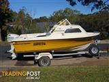 16 ft fibreglass Sportsman craft 1/2 cabin