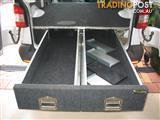 3  Black Widow metal cargo drawers from a VW T5 van