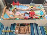 Kids train table with lots of pieces