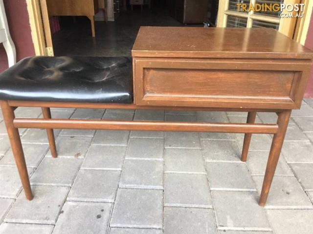 Vintage Telephone Table Seat Made In Australia By Burgess Uph