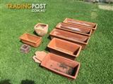 Terracotta plant pots Rectangular