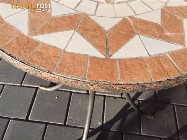 Mosaic-table-top-on-steel-frame-chair-1-x-table-Frame-has-r