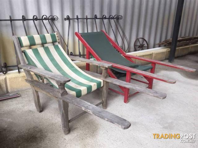 2 squatters chairs deck chairs Need sanding and oiling or painti & 2 squatters chairs deck chairs Need sanding and oiling or painti for ...