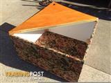 Storage box toy box hinged top Corner table lamp table 90cm X
