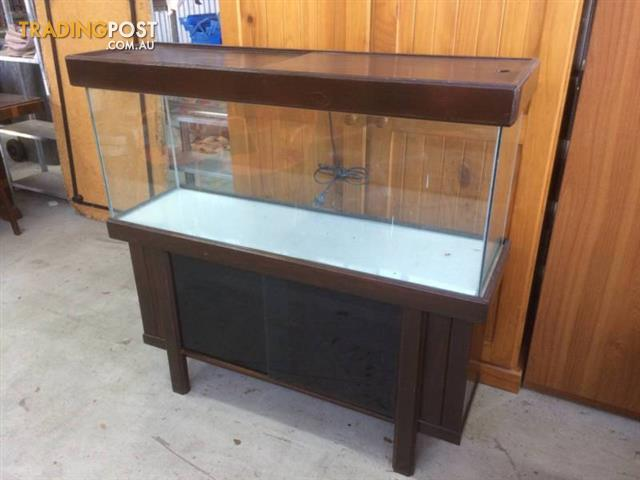 Fish Tank 122cm On Wooden Stand Unused Glass Fish Tank