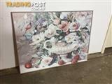 Framed print #16 80cm X 60cm Flowers in vase $20
