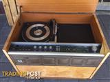 AWA turntable & radio in cabinet Vintage No speakers it works Cab