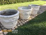Vintage Concrete plant pot x 3