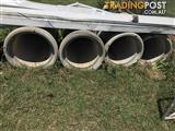 4 concrete pipes