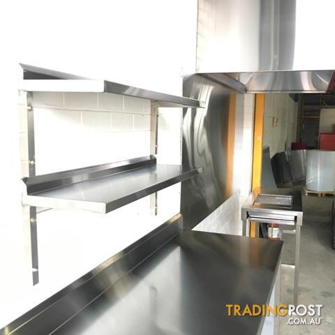 commercial Grade stainless steel wall shelf