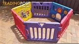 Wiggles toddler playpen. kids playpen. 6 sized plastic playpen