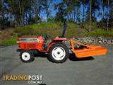 Kubota  4X4 Diesel Tractor with new slasher