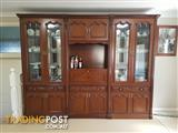 Solid Timber Italian design wall unit