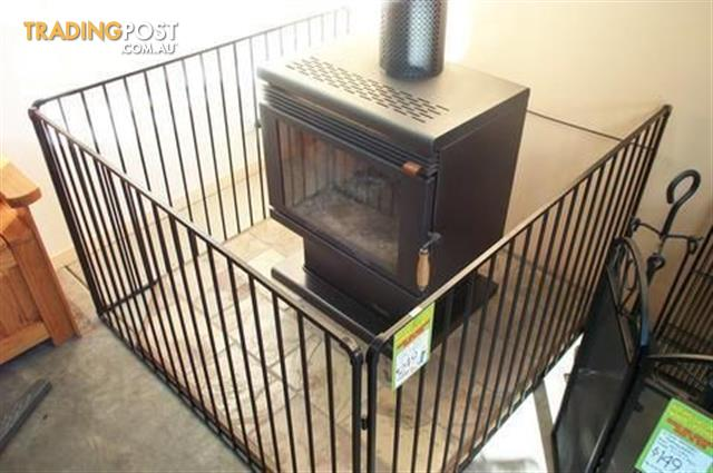 Large Steel Child Safety Guard Wood Heater Fire Screen