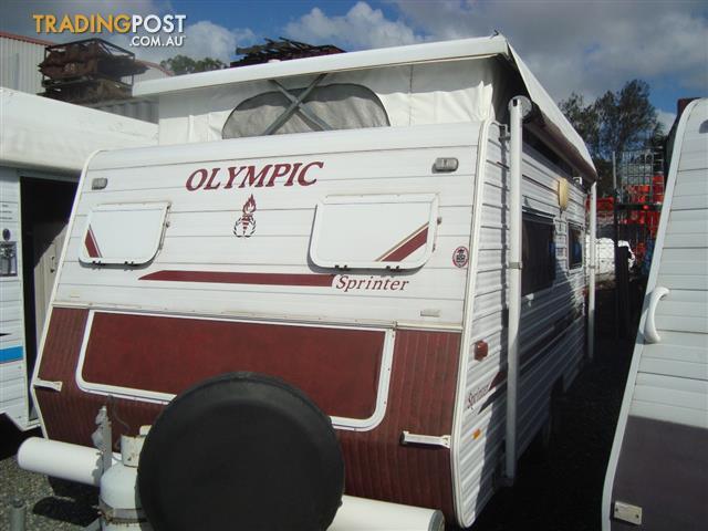 Olympic Sprinter 13ft Rear Entry Door Pop Top 2007