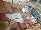 Nick Scali Glass Dining Table with 6 chairs