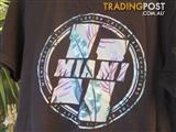 Black Tee Shirt Miami Size Medium Excellent Condtion