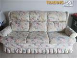 3 seater Floral Lounge Suite By Lanfranco Excellent Condition