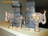 Elephant Book Ends Qty 2 Brand New