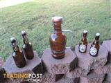 Vintage German Beer Bottle Ultenmunster Plus 4 Others.