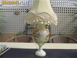 Old Style Hand Painted Lamp By South Australian Artist Aylene Cook