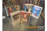 6 Very good quality vhs cassettes.Shipping available