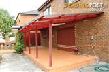 External Alfresco - Wooden and Polycarbonate roof covering