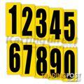 Go Kart Number 0 Black Large on Yellow background - ALL BRAND NEW !!!