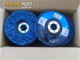 "Jingle 4.5"" Clean & Strip Disks. Blue 115 x 22 x 14 units in box."