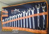 Harden Metric 23 piece Combination Spanner Set in a Tool Roll. @ Moolap