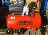 Good buy Owen Air Compressor D/D 3HP/50L Tank + Hose Kit. Has wheels!
