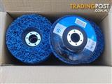 Blue Clean and Strip Disks made by Jingle. Blue 125 x 22 x 14 units in box.
