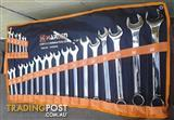 Metric 23 piece Combination Spanner Set in a Tool Roll. @ Moolap