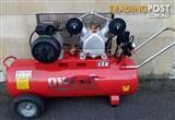 Byut Owen Air Compressor V-Twin 2HP/70L + Free Hose Kit! @Eagle Farm