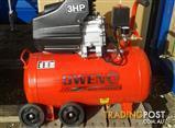 Bargain! Owen Air Compressor D/D 3HP motor/50L tank + Free Hose Kit!