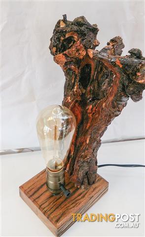 Rustic bedside table desk Lamp Vintage E27 Edison Retro Screw Bulb Socket