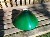 Green glass cone pendant shade.