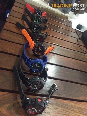 G-Shock watches assorted colours USED AS NEW